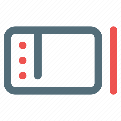 device, pen, tablet icon