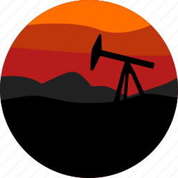 field, landscape, mining, nature, oil, parks, scenery icon
