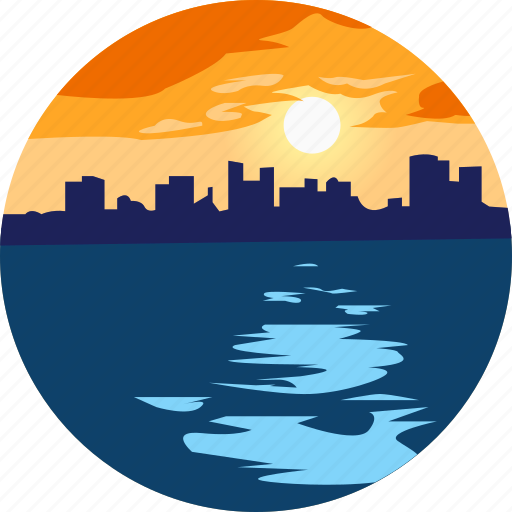 City, landscape, nature, ocean, parks, scenery, sunset icon - Download on Iconfinder