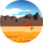 desert, landscape, mountains, nature, parks, scenery icon