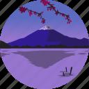 fuji, landscape, mountain, nature, parks, scenery