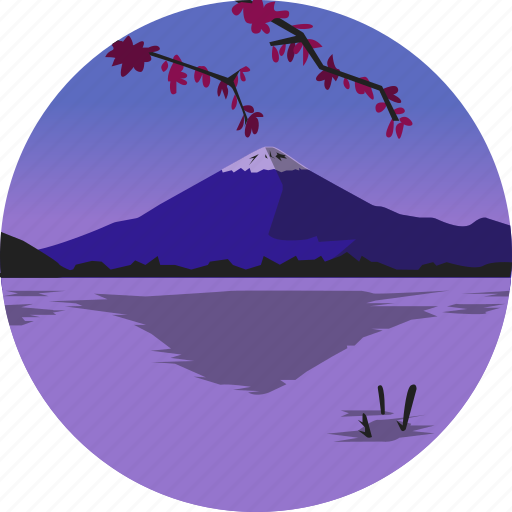 fuji, landscape, mountain, nature, parks, scenery icon