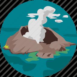 island, landscape, nature, parks, scenery, volcano icon