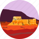 desert, landscape, mesa, nature, parks, scenery, southwest icon
