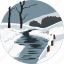 landscape, nature, parks, river, scenery, snow, winter icon