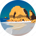 coast, landscape, nature, ocean, parks, rocks, scenery icon