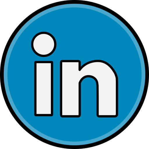 linkedin, media, social icon