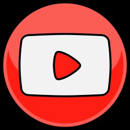 media, social, youtube icon