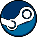 edged, highlight, media, social, steam icon