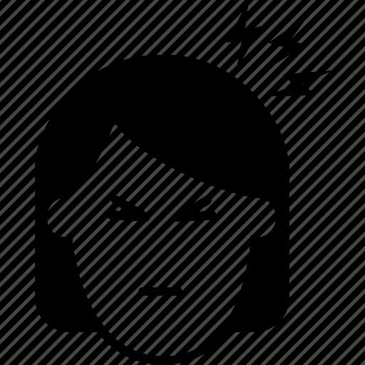 avatar, female, girl, head, headache, lady, pain, person, symptom, throb, user, woman, zika symptom icon