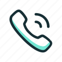 call, calling, phone, ring, signal icon