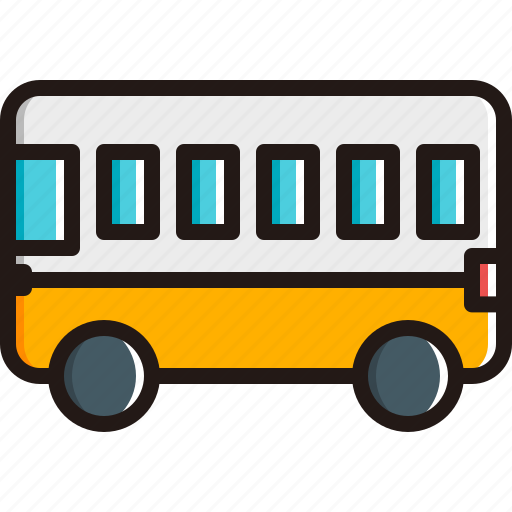 autobus, bus, public, school bus, transport, vehicle icon