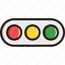 horizontal, light, sign, traffic icon
