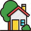building, garden, home, house, nature, property, real estate icon