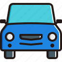 automobile, car, oncoming, transport, vehicle icon
