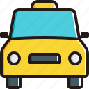 car, oncoming, taxy, transportation icon