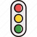 light, sign, traffic, vertical icon