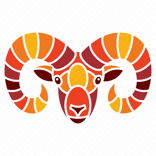 animal, aries, astrology, constellation, horoscope, ram, zodiac sign icon