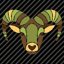 animal, capricorn, constellation, goat, horoscope, wild, zodiac sign icon