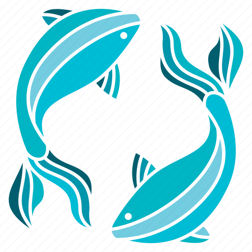 astrology, constellation, fish, horoscope, pisces, water, zodiac icon