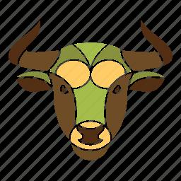 animal, astrology, bull, constellation, horoscope, taurus, zodiac icon