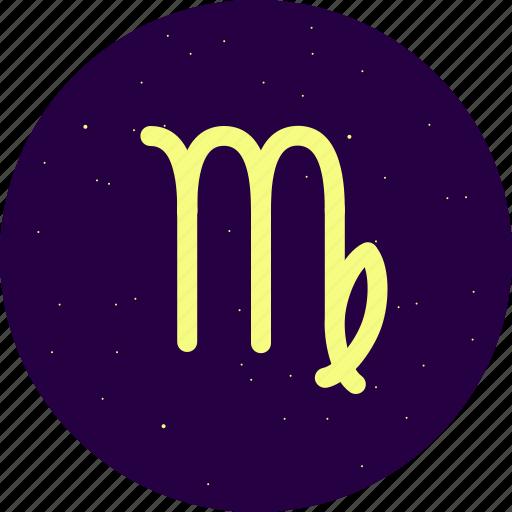 astrology, constellation, signs, stars, virgo, zodiac icon