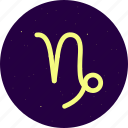 astrology, capricorn, constellation, signs, stars, zodiac icon