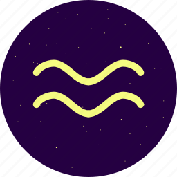 aquarius, astrology, constellation, signs, stars, zodiac icon