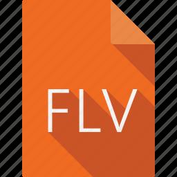 document, flv icon