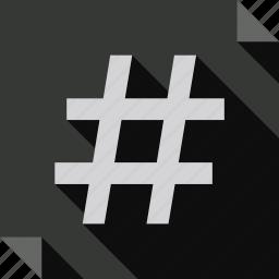 hashtags icon