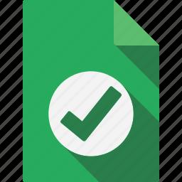 accept, document icon