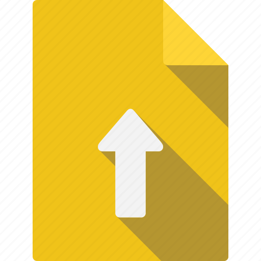 arrow, document, up icon