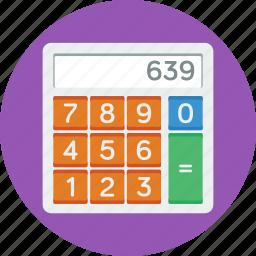calc, calculate, calculator, math, school, study icon