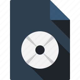 compact, disk, document icon