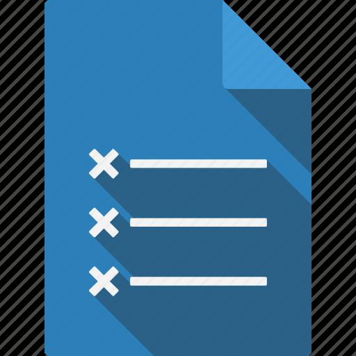 crosslist, document icon
