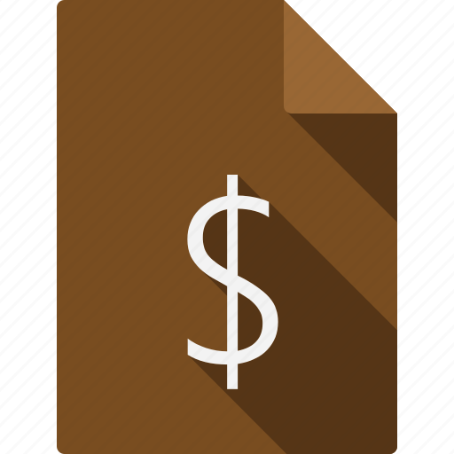 currency, document icon