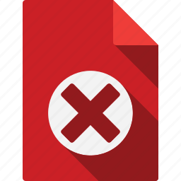 cancel, delete, document icon
