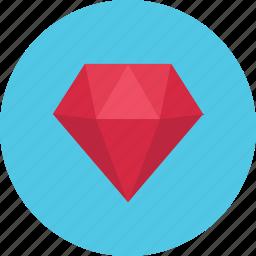 diamond, gem, jewel, jewelry, stone icon