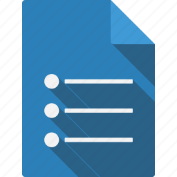 document, dotlist icon