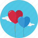 balloon, baloon, heart, love, romantic, valentine icon