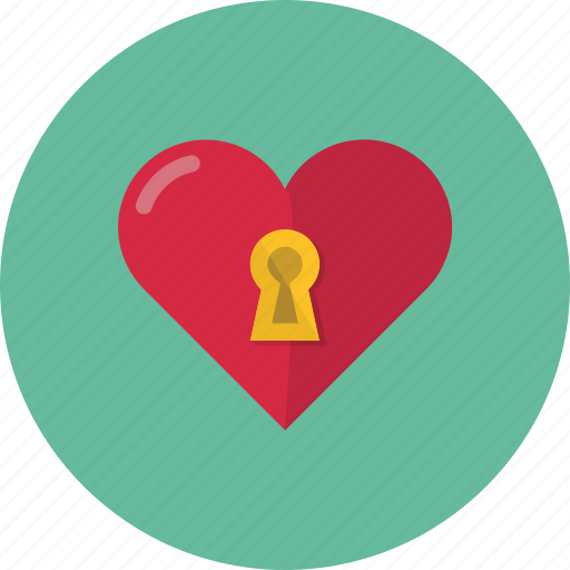 heart, lock, love, private, protect, protection icon