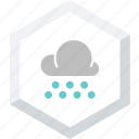 heavy, small, snowfall icon