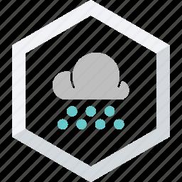 heavy, small, snowfall icon