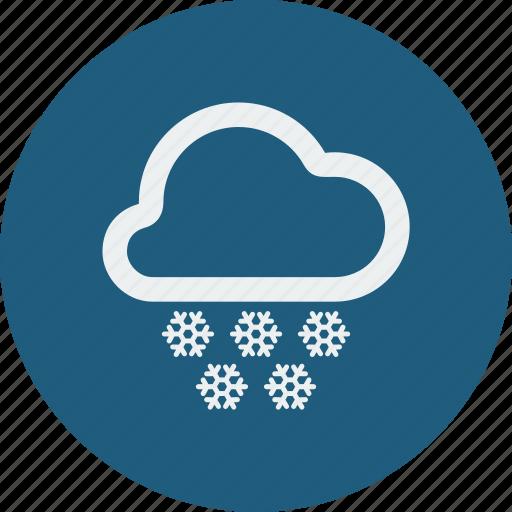 heavy, snowfall icon