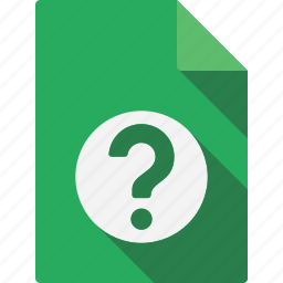 document, help icon