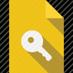 document, key icon