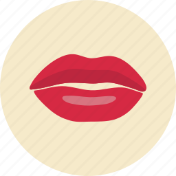 female, human, lips, mouth icon