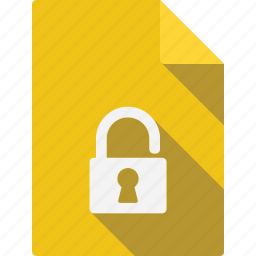 document, lock icon