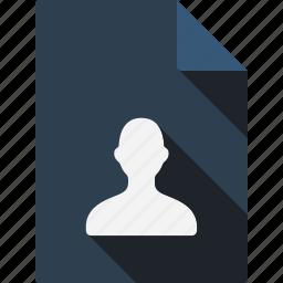 document, man icon