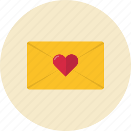 envelope, heart, love, message icon